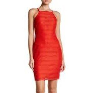 NWT bebe Halter Bodycon Dress Red Sleeveless
